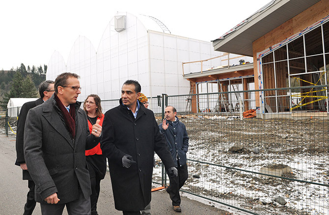 Advanced ed minister tours UFV's Agriculture Centre of Excellence